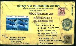 C104- Postal Used Cover. Post From India To Pakistan. Buddha. Ghandi. - India