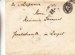 Russie - Lettonie - Lettre De 1881 - Entier Postal - Oblit Riga - Exp Vers Dorpat