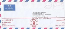 """United Arab Emirates UAE 1993 Dubai Meter Franking Hasler """"Mailmaster"""" H0024 Cover - Verenigde Arabische Emiraten"""