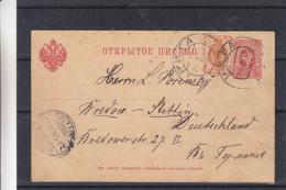 Russie - Lettonie - Carte Postale De 1905 - Entier Postal - Oblit Riga - Exp Vers Stettin