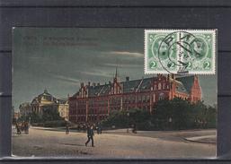 Russie - Lettonie - Carte Postale De 1913 - Oblit Riga - Exp Vers Anvers En Belgique - Vue Bourse De Riga