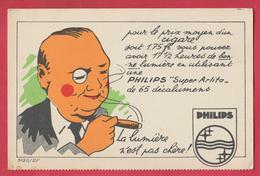 Carte Publicitaire Philips - 1 ( Voir Verso ) - Publicité