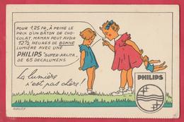 Carte Publicitaire Philips - 2 ( Voir Verso ) - Publicité