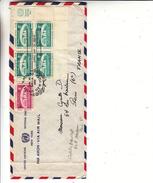 Nations Unies - New York - Lettre Officiëlle De 1959 - Avec Bloc De 4 Avec Vignette - New-York - Siège De L'ONU