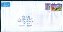 C127- Postal Used Cover. Posted From Israel To England. UK. - Other