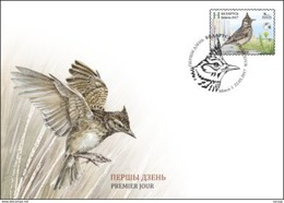 TH_ Belarus 2017 Bird Of The Year Crested Lark FDC