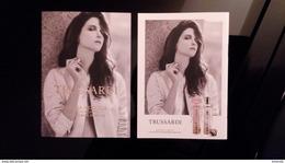 Trussardi Goccia A Goccia Parfum Carte Size 10 X 15 Front And Back - Perfume Cards