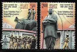 India 2008 Sardar Vallabhbhai Patel National Police Academy Hyderabad Set Of 2 Used Stamps # AR:25