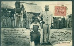 MADAGASCAR CPA Affr N°129 Ob : Marseille à La Réunion 1906 Lv N° 4 Arrivée Asnières Tb Rare - Madagascar (1889-1960)