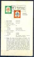 C141- Pakistan Leaflet Brochure With Stamp & First Day Cancellation Year1968.  WHO World Health Organization. - Qatar