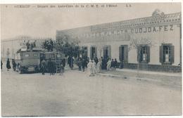 GUERCIF - Départ Des Autocars De La C. M. T. Et L'Hôtel - Autres
