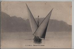 Barque Du Leman - Segelschiff - Photo: Jullien Freres No. 1301 - VD Vaud