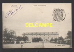 DD / ALGERIE / MASCARA / CASERNE DES CHASSEURS / ANIMÉE / CIRCULÉE EN 1906