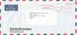 "United Arab Emirates UAE 1986 Dubai Meter Franking Postalia ""D2/D3"" PA 36 Standard Chartered Bank Slogan Cov - Verenigde Arabische Emiraten"