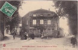 MONTELIER - Avenues De Chabeuil Et De Valence - Café-Restaurant - Animé - Francia