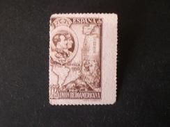ESPANA SPAGNA SPANISH ESPAGNE SPAIN  1930 Pro Union Iberoamericana. 10 PESETA MARRON MNG  ERROR PERFORATION !!!