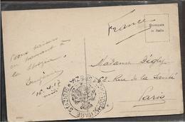 """Guerre 14 18 SPEZIA Italie Cachet """" COMANDO MILITARE STAZIONE """" SPEZIA 16.4.1917  ....G - 8. WW I Occupation"""