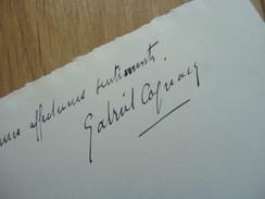 Gabriel COGNACQ (1880-1951) Directeur SAMARITAINE. Occupation WW2 & Beaux Arts ... AUTOGRAPHE - Autographes