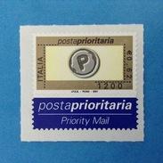 2001 ITALIA FRANCOBOLLO NUOVO STAMP NEW MNH** - POSTA PRIORITARIA PRIORITARIO 0,62 1200 LIRE - 6. 1946-.. Republic
