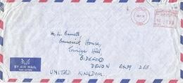 """United Arab Emirates UAE 1982 Dubai Meter Franking Pitney Bowes """"5000"""" PB 195 Cover - Verenigde Arabische Emiraten"""