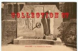 MONUMENT De La COLLABORATION De La CROIX ROUGE FRANCAISE Et AMERICAINE à CHAULNES En 1917-1919 - Guerra 1914-18
