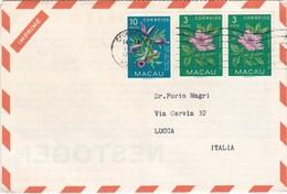 STORIA POSTALE  - CINA - MACAU - BUSTA BUSTA PUBBLICITARIA NESTOGEN - NESTLE'  VIAGGIATA - ANNO 1959