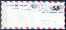 C172- Postal Used Cover. Posted From USA New York To Kuwait. UNO. U.N.O. United Nation. - Verenigde Staten