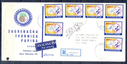 C174- Postal Used Cover. Posted From Jugoslavija To Kuwait. Satilate. - Kuwait