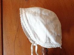 Coiffe  Ancienne De Bebe Pour Poupee Poupon  A Restaurer-1760 - 1900-1940