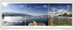 Switzerland 2016 (02) Lake Constance Mountains (Säntis) Landscape Ship Bird Svan MNH ** - Ungebraucht