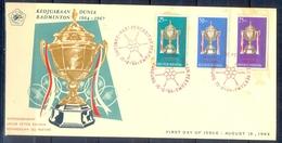 C180- FDC Of Indonesia 1964. Badminton Championship International. - Indonesia