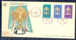 C182- FDC Of Indonesia 1964. Badminton Championship International. - Indonesia