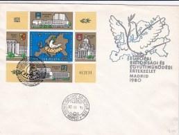 Hungary 1980 FDC OSCE KSZE Souvenir Sheet (LAR5-14)