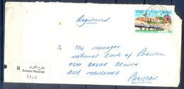 C200- Postal Used Cover Of Oman. Post To Pakistan In 1987. - Oman
