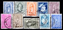 Grecia-F0205 - 1947-51 - Valori Della Serie Yvert & Tellier N. 555-564 (o) Used - Senza Difetti Occulti. - Grecia