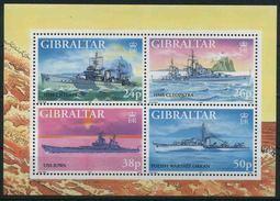1997 Navi Da Guerra, Foglietto Di Gibilterra, Serie Completa Nuova (**) - Bateaux