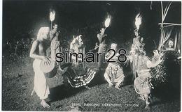 CEYLON - N° 39 - DEVIL DANCING CEREMONY - Sri Lanka (Ceylon)
