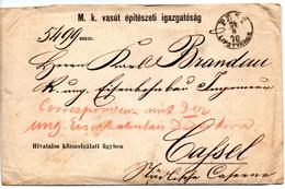 Sobre De Hungria Con Carta En Su Interior 1870 Direccion Cassel.