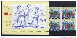 SLOVAKIA 1999 Christmas Booklet With 10 Stamps MNH / **.  Michel 354, MH 0-33 - Slovakia