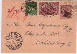 DR, 1922, Rohrpost Portogerecht ! , #8226 - Deutschland