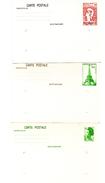 3 Entero Postal  De Francia - Enteros Postales