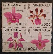 GUATEMALA 1978 Orquídeas. Aéreos. USADO - USED. - Guatemala