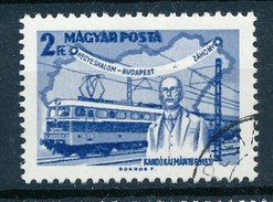 Ungarn 1968 Mi. 2396 A Gest. Kando Eisenbahn Lokomotive Landkarte