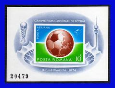 1974 - Rumania - Mi. B 115b - S/d - Valor Catalogo 95€ - MNH - RU-058 - Copa Mundial