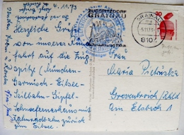 Post Card Sent From Germany Atm Machine Cancel 1973 Grainau Zugspitze