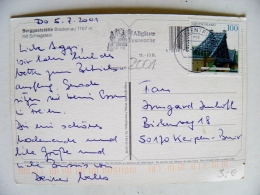 Post Card Sent From Germany Atm Machine Cancel 2001 Dresden Bridge