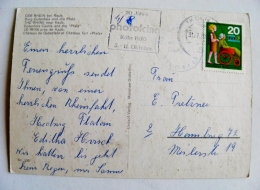 Post Card Sent From Germany 1970 Disabled Atm Machine Cancel