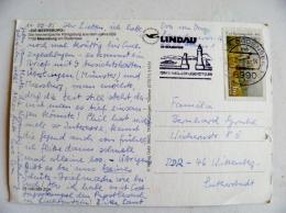 Post Card Sent From Germany 1985 Lindau Atm Machine Cancel