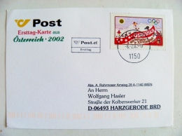 Post Card From Austria 2002 Winter Olympic Games Fdc - 1945-.... 2nd Republic