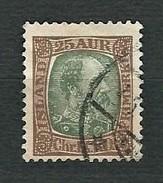 ISLAND 1902 - King Christian XI - 25 Aur - Yt:IS 41 - Prephilately